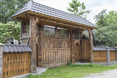 Typical wooden house in Maramures region