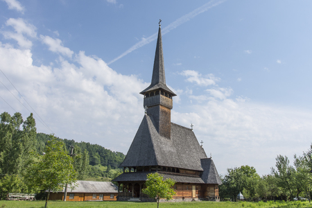 monastic: The traditional wooden church in Ieud, in the Maramures region
