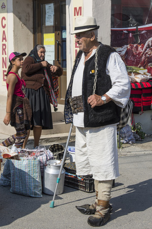 diversity of the region: An old man with the typical costume of the Maramures region.