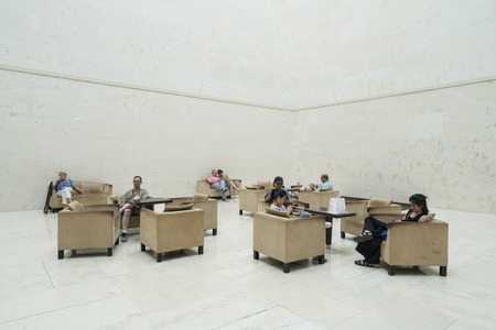 articles: Visitors rest in a room of Leopold Museum in Vienna