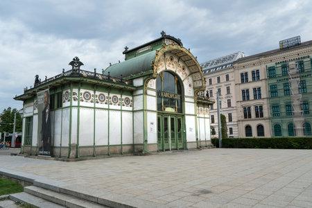 The old metro station in Karlsplatz in Vienna Editorial