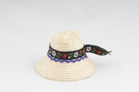 Typical male straw hat of Maramures region in Romania Stock Photo