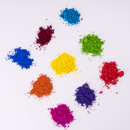 multi colored natural pigment powder 스톡 콘텐츠