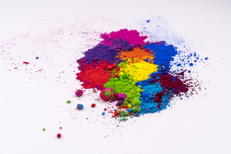 multi colored natural pigment powder Imagens