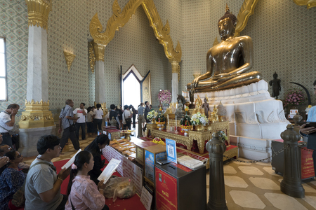The golden Buddha in Wat Traimit temple in Bangkok, Thailand
