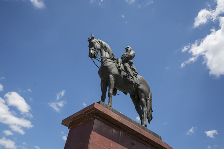The equestrian statue of Gorgey Artur on the castle hill of Budapest, Hungary