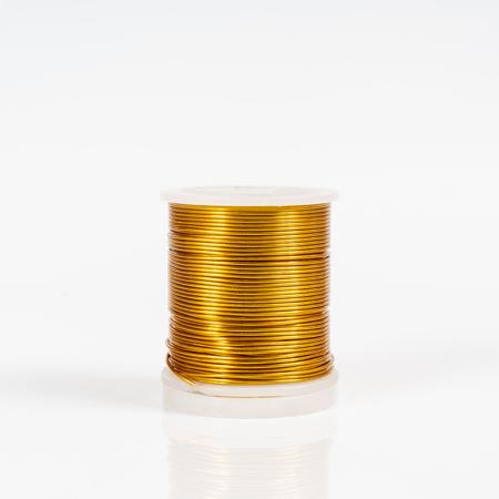 spool of colored metallic thread