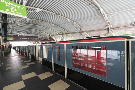 A view of the Monorail train station in Kuala Lumpur, Malaysia Editorial