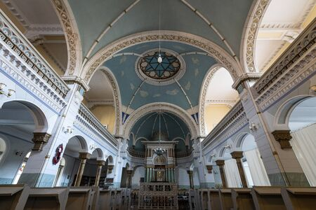 Vilnius, Lithuania. May 2019. An indoor view of the synagogue in the city Editorial