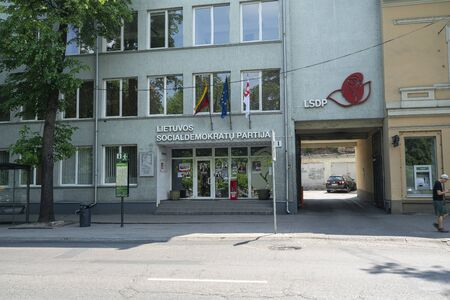 Vilnius, Lithuania. May 2019. the headquarters of the Lithuanian Social Democratic Party