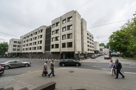 Vilnius, Lithuania. May 2019. A view of the Government of the Republic of Lithuania building Redactioneel