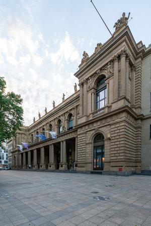 Frankfurt, Germany. July 2019.  The Frankfurt stock exchange building