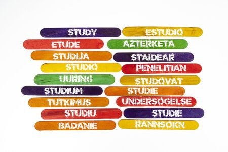 the concept of the word study in various languages