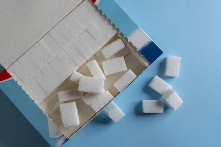 a box with sugar cubes