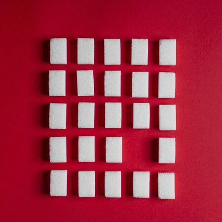 a sugar cube on a teaspoon 写真素材