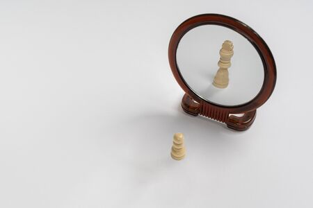 as a narcissus, the pawn is mirrored