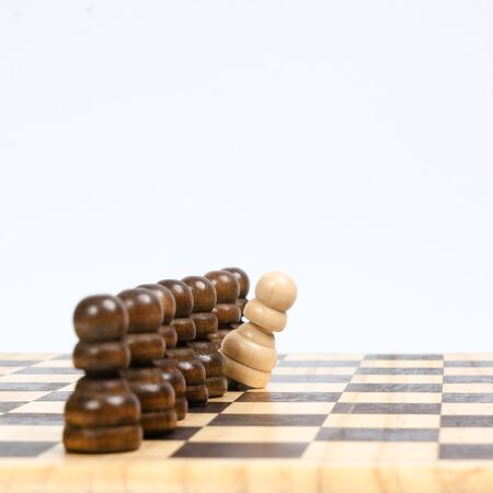 a pawn out of alignment on a chess board