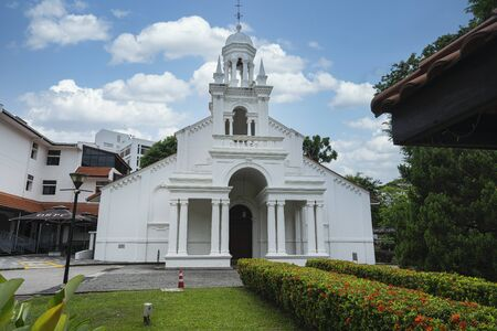 Singapore. January 2020. An external view of the Orchard Road Presbyterian Church
