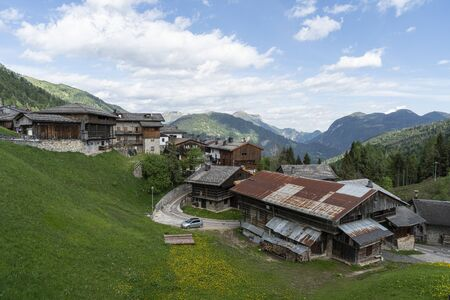 A panoramic view of the Sauris di Sopra valley, Italy