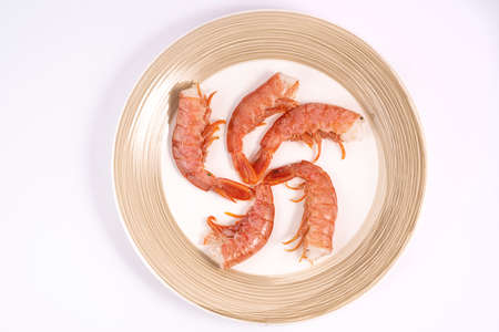 Some prawns on a plate