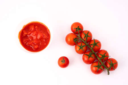 The transition from fruit to tomato sauce
