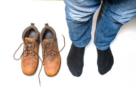 a man with feet