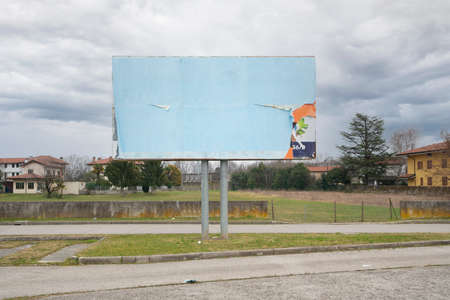 a street billboard without any posters Standard-Bild - 164393454