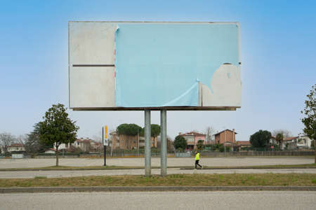 a street billboard without any posters Standard-Bild