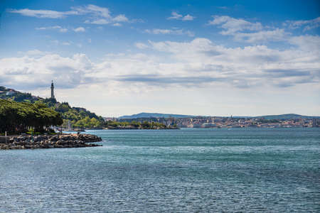 Panoramic view of the Gulf of Trieste and the Victory Lighthouse