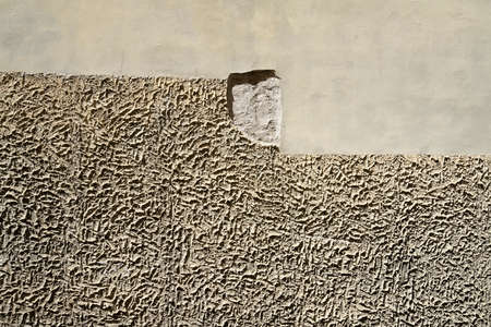the different types of plaster on a wall Standard-Bild
