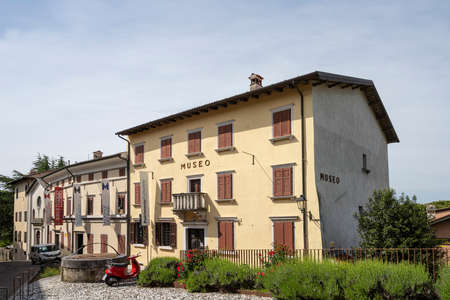 Gorizia, Italy. May 21, 2021. exterior view of the Great War Museum and Fashion Museum in the castle village of the city Editorial