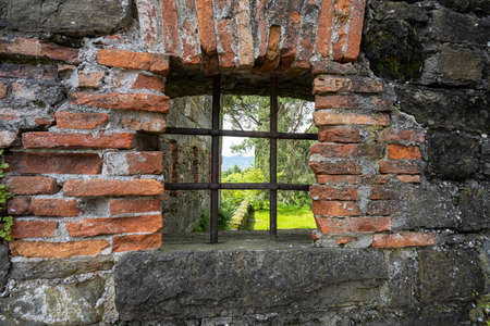 Gorizia, Italy. May 21, 2021. the loopholes in the walls of the ancient castle of the city Editorial