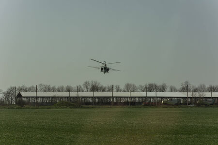 aeronautical: Irrigation with fertilizer from a helicopter  Application of aeronautical engineering in agriculture