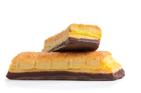 high calorie foods: the tasty pastries were photographed on a white background