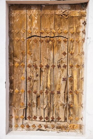 beautiful texture of the old door was photographed on a walk