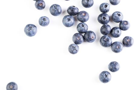Beautiful fresh large blueberry was photographed in the studio