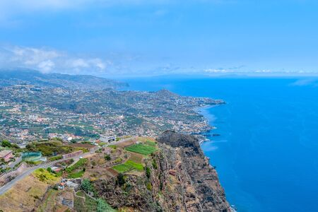 The southern coast of the island of Madeira. Funchal