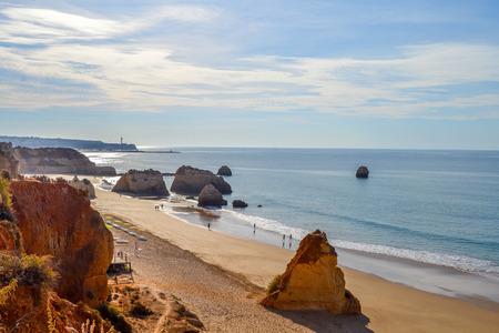 rocha: beaches of the Algarve. Portimao Portugal. Praja da Rocha