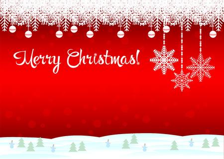 married: ¡Feliz Navidad! El fondo rojo es un hermoso copos de nieve y muñecos de nieve