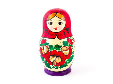 Russian nesting dolls. Babushkas or matryoshkas. One Stock Photo