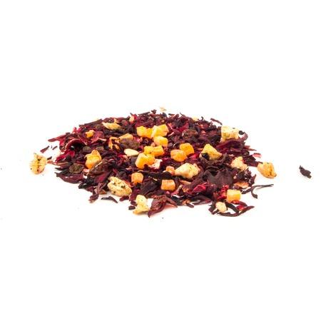 fruit mix: Aromatic tea hibiscus flower candied fruit mix. Stock Photo
