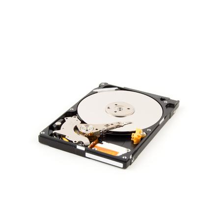 harddrive: Inside of internal Harddrive HDD on white background. Stock Photo