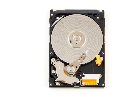 hdd: Binary data of HDD. Inside of internal Harddrive HDD on white background.