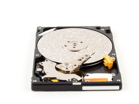 sectors: Sectors of HDD. Inside of internal Harddrive HDD on white background.
