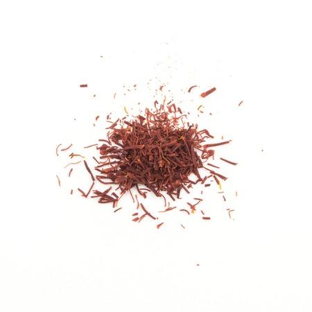 safran: Saffron - dried pistils, for cooking on white.