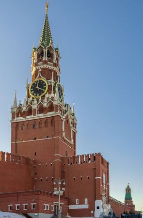 the Moscow Kremlin Red Square view Moscow Russia. Stock Photo