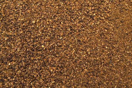 fermenting: Crushed brown malt grains fermenting close up Stock Photo