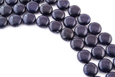 aventurine: mineral gem stone blue Aventurine - gemstone isolated on white background