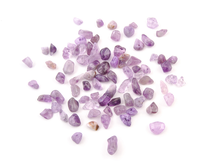 amethyst rough: Amethyst natural crystals gem isolated on white background.