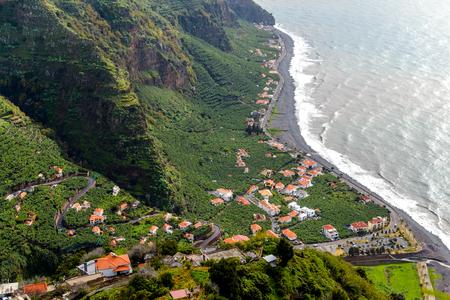Beautiful sea coast in Madeira Island, Portugal.
